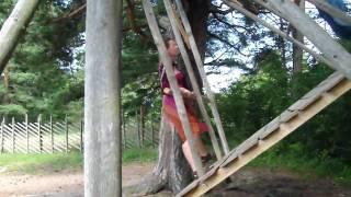 Traditional Estonian swing (kiik).