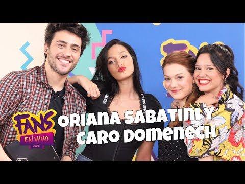 Oriana Sabatini y Caro Domenech en Fans en Vivo