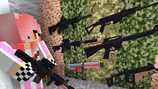 НАШЛА ТАЙНИК с ОРУЖИЕМ! - Зомби апокалипсис в Майнкрафт! (Minecraft - Сериал)