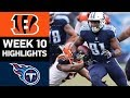 Bengals vs. Titans | NFL Week 10 Game Highlights