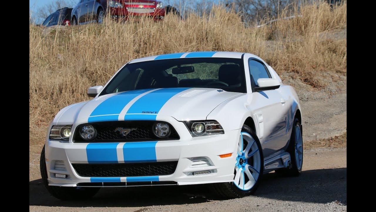 Mustang Gt Car Hd Wallpaper 2014 Sherrod Ssvt Mustang Gt White Blue Ford Of