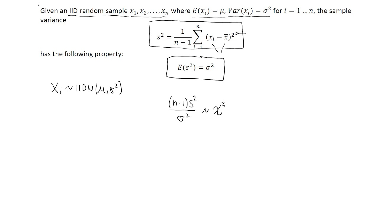 Properties Of The Sample Variance