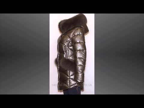 Зимняя куртка экокожа