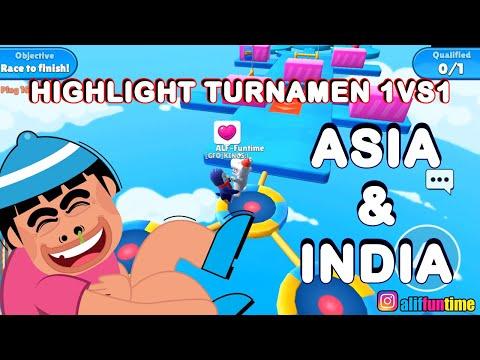 HIGHLIGHT Turnamen 1VS1 Asia & India - Stumble Guys