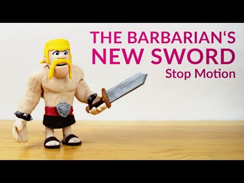 The Barbarian's New Sword (Clash Royale Stop Motion / Claymation / Polymer Clay)