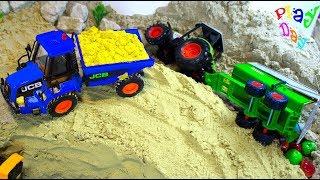 Рабочие машины строят мост - Мультфильмы Для Детей - со строительной техникой!