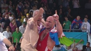 Artur Tatmazov (UZB) Wins 120kg Freestyle Wrestling Gold - London 2012 Olympics
