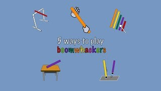 Five ways to play boomwhackers