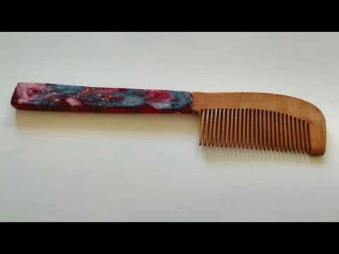 How to make amazing comb from epoxy resin | DIY