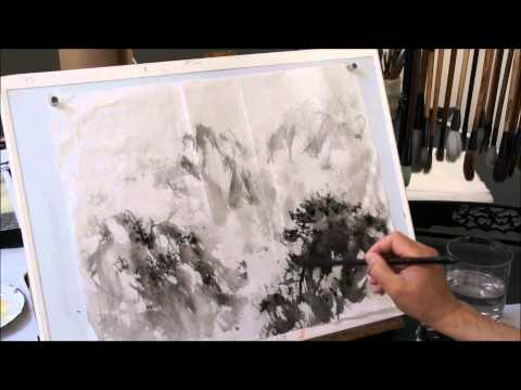 Another Study of Fu Baoshi Style Cloud and Mist Mountain Landscape