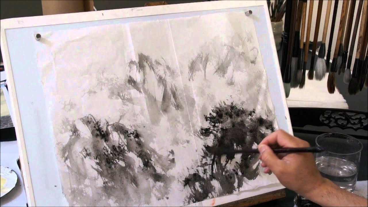 another study of fu baoshi style cloud and mist mountain