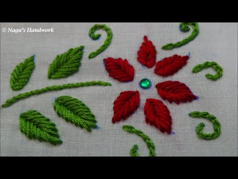 Fish Bone Stitch Hand Embroidery Tutorials By Nagus Handwork Youtube