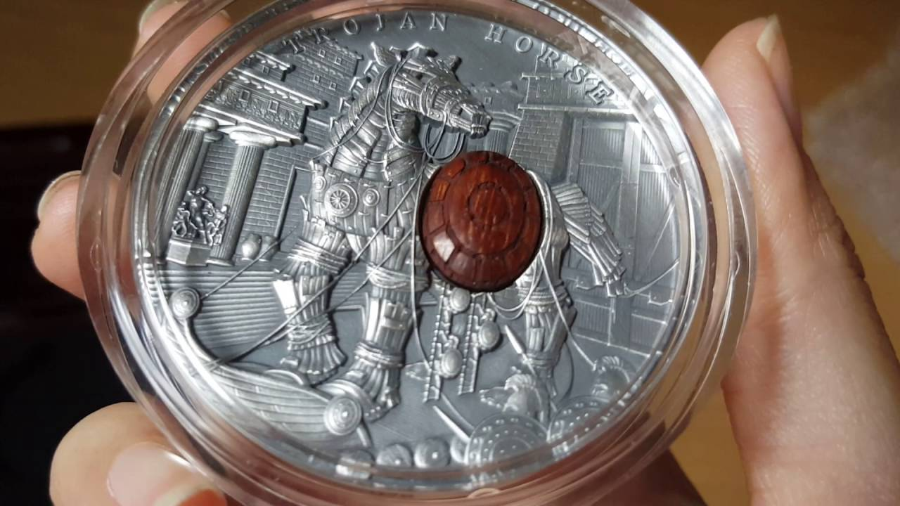 2 Oz Trojan Horse Silver Coin Quot Ancient Myths Quot Youtube
