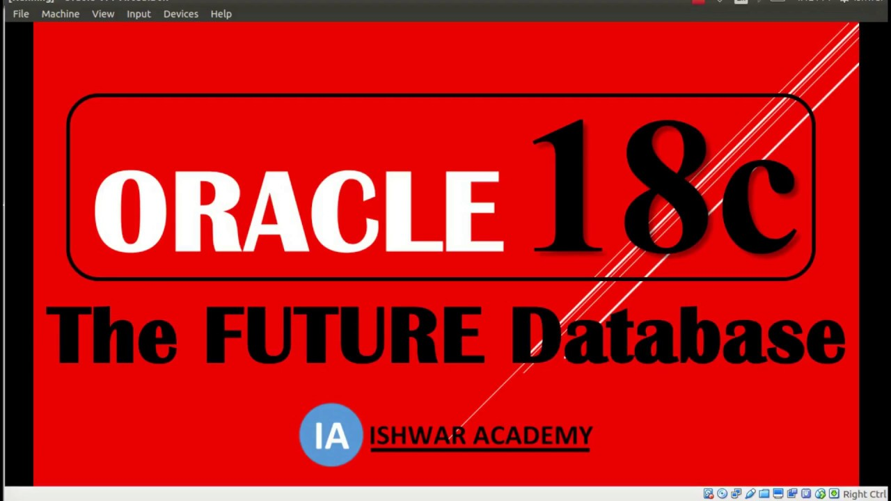 Oracle 18c : THE FUTURE DATABASE