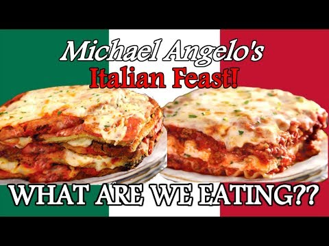 Michael Angelo's Frozen Italian Dinners - BEST EVER?? - WHAT ARE WE EATING??