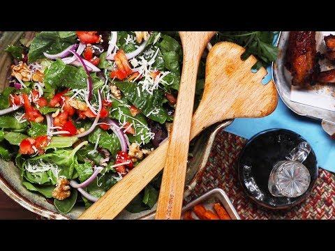 Easy Balsamic Mixed Green Salad