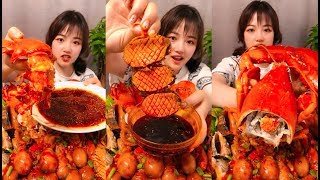 Eat giant lobster, octopus, spicy seafood - SPICY FOOD COMPILATION [09]