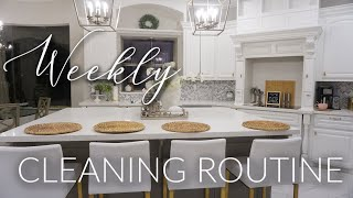 CLEAN WITH ME || WEEKLY CLEANING ROUTINE || LIVING ROOM & KITCHEN