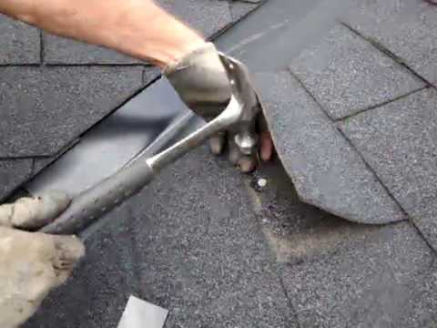 Roof Leak Nail Exposure Shingles Youtube