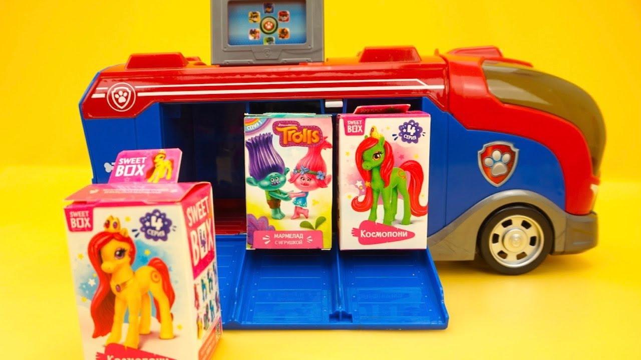 Cюрпризы для детей, ищем игрушки из мультиков