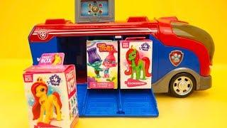 Щенячий Патруль сюрпризы, ищем игрушки из мультиков