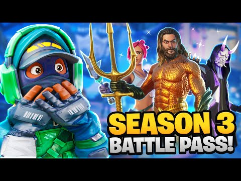 SEASON 3 BATTLEPASS! (100% UNLOCKED/UNDERWATER MAP)