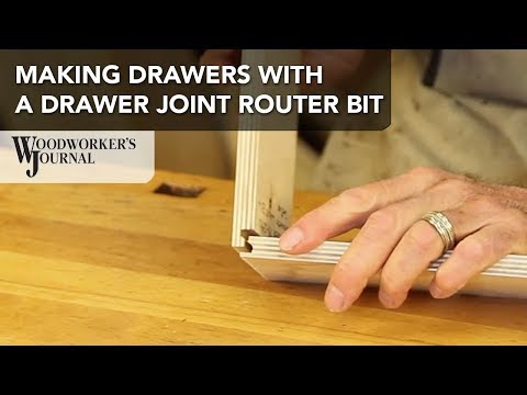 Make a Drawer Box making use of a Drawer Joint Router Bit | Woodworking Tip
