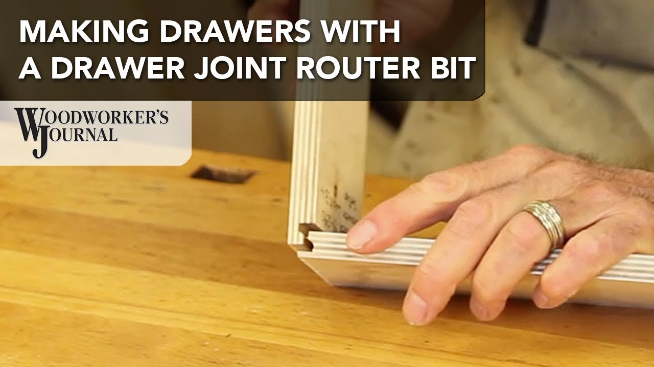 Make A Drawer Box Using A Drawer Joint Router Bit Woodworking Tip