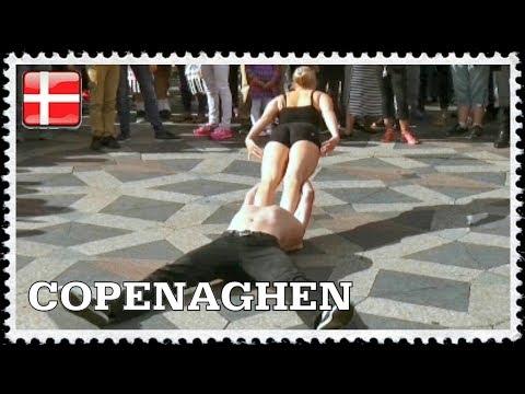 Beautiful acrobatic dance in Copenhagen