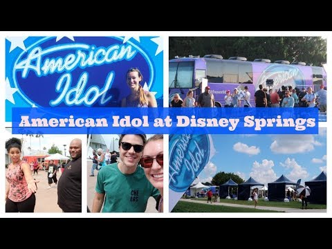 American Idol Auditions at Disney Springs with Jordin Sparks, Ruben Studdard and Kris Allen