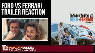 FORD v FERRARI Official Trailer - Nadia Sawalha & The Popcorn Junkies REACTION