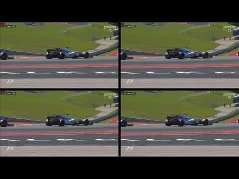 F1 2017 Austin GP FIRST LAP DRAMA