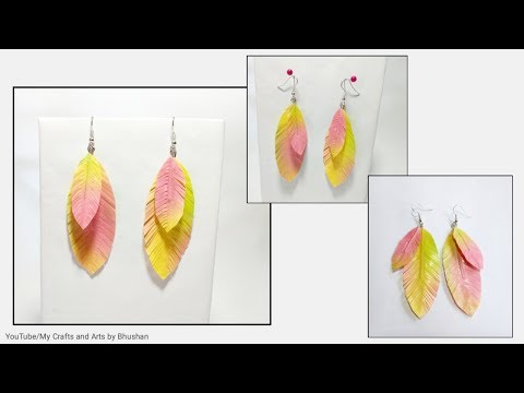#papercrafting #handmade How to make paper feather earrings easily?