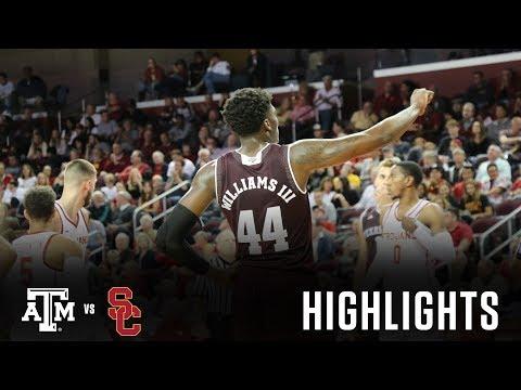 Men's Basketball: Highlights | A&M 75, USC 59