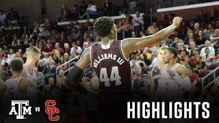 Men's Basketball: Highlights   A&M 75, USC 59