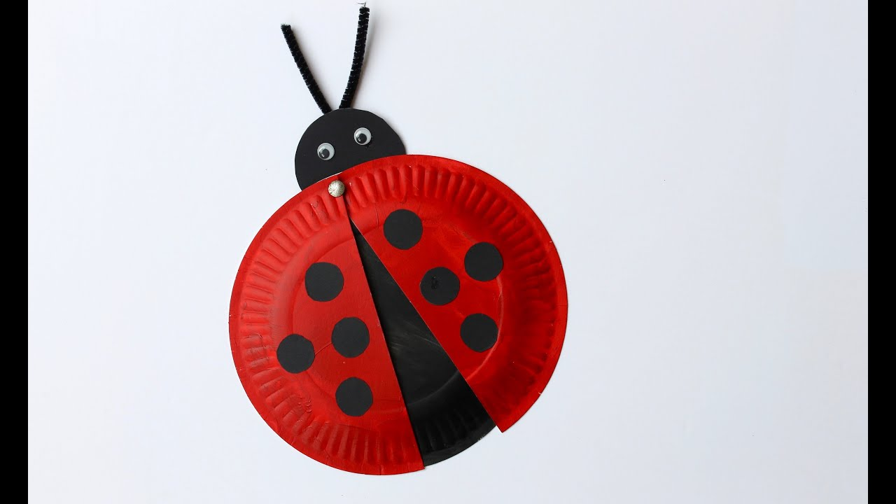 Easy Craft How To Make A Paper Plate Ladybird