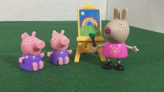 Peppa Pig Kids Toy Review Delphine Donkey Micro Lite Blind Bags Unboxing   Jelly Frog Toys