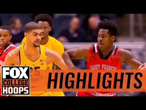 Marquette Golden Eagles def. St. Francis Red Flash in Milwaukee   2016 COLLEGE BASKETBALL HIGHLIGHTS