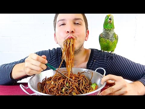 CHINESE LO MEIN NOODLE • Mukbang & Recipe