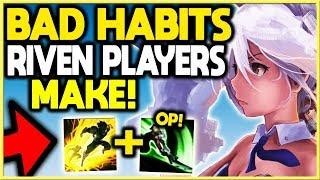 5 Bad Habits Riven Players Always Make! (Golden Riven Tips!) League of Legends