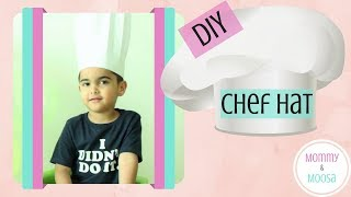 DIY | CREATE: make your own CHEF HAT #DIYHat #chefcostume #makechefhat