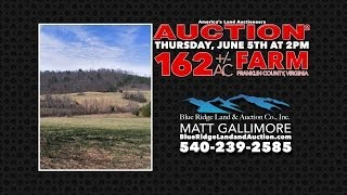 Virginia Land Auction | 162+/- Acres | Franklin County | Farm Land | Divided In Two Tracts