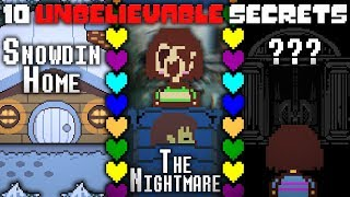 10 Obscure UNDERTALE Facts You Never Knew! Undertale Theory | UNDERLAB
