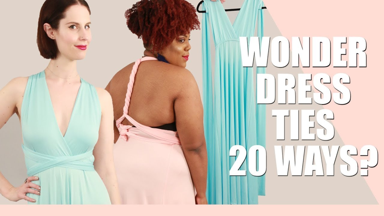 We tried the convertible Wonder Dress you can tie 20 ways ...