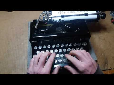 1937 Royal Model O typewriter, NEW PLATEN & FEED ROLLERS, SUPER CLEAN!!