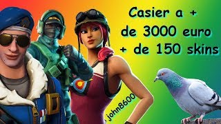 OMG My Fortnite Locker A - From 3000 !!! From 150 Skins... To see !!! #FORTNITE OMG#Casier