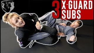 3 Submissions from X-Guard (Heel Hook, Knee Bar, & Arm Bar)