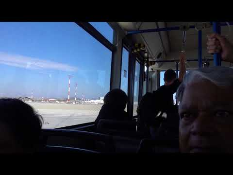 Aruna & Hari Sharma in Athens Airport Bus from apron to Terminal Building, Oct 04, 2017