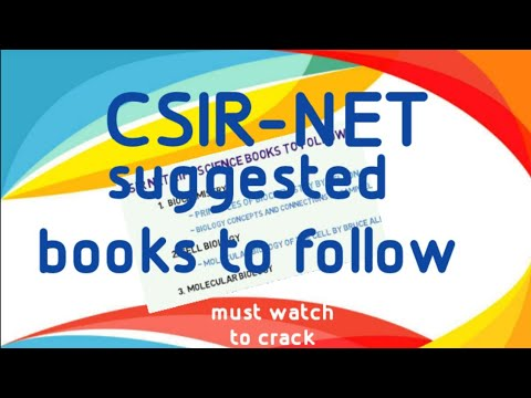 csir net life science - Suggested book readings