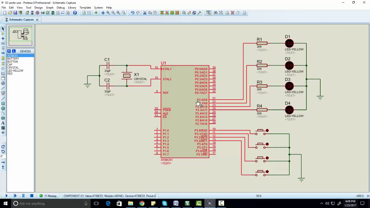 how to use input output ports of 8051 microcontroller youtubehow to use input output ports of 8051 microcontroller